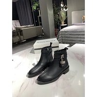 Givenchy2021 Trending Women's men Leather Side Zip Lace-up Ankle Boots Shoes High Boots07060gh