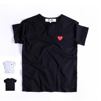 Short Sleeve Summer Round-neck Pullover Couple T-shirts [10176379463]
