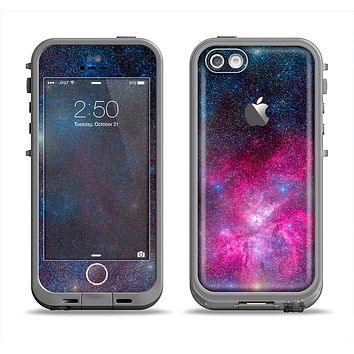 The Pink & Blue Galaxy Apple iPhone 5c LifeProof Fre Case Skin Set