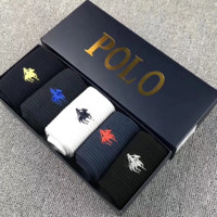 POLO New Fashion Embroidery Men And Women Socks 5 Pairs Of Socks Boxed