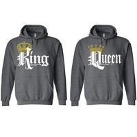 Royal King and Queen Charcoal Hoodie