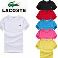 HOT LACOSTE MENS T SHIRT 6 COLORS