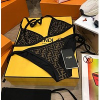 FENDI Halter Triangle Bikini Set