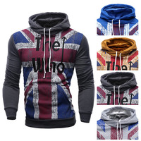 Mens England Graphic Pullover Hoodie