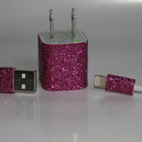 Glitter iPhone 5 Charger by GiftsThatGlitter on Etsy