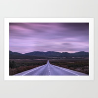 """""""At the end of the road"""" Purple sunset by Guido Montañés"""