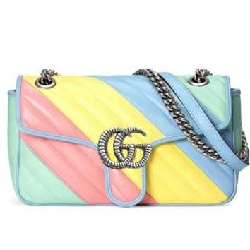 GG fashion color macaron color ladies shoulder bag messenger bag