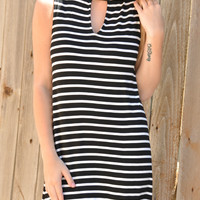 Look My Way Dress - Blk/White