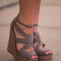 The Ali Wedge, Taupe