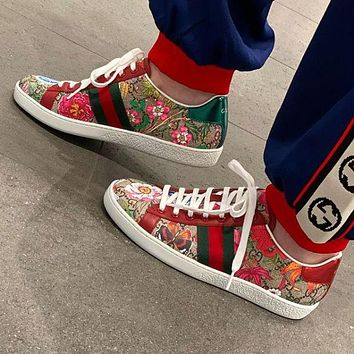 DIOR GG Classic Lace up print casual shoes flat comfort sneakers