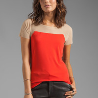 Graham & Spencer Stretch Jersey Mesh Top in Crimson from REVOLVEclothing.com