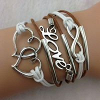 Brown and White Heart Set