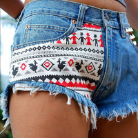 Sexy Women Girl Summer High Waist Ripped Hole Wash Denim Jeans Shorts Pants = 4721451204