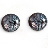16mm Spider Web Halloween Cabochons Set