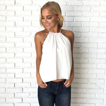 Array Of Colors Tank In White