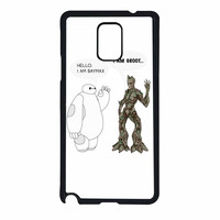 Hello I Baymax I Groot Samsung Galaxy Note 4 Case