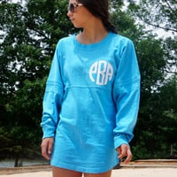 CUSTOM Spirit Pom Jersey Shirt with Greek or Monogram Print