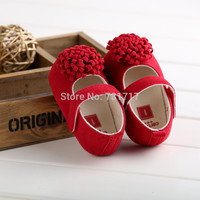 New Fashion Baby Shoes Girls Red Cotton Soft Sole Skid-proof Cute Kids Toddler Shoes First Walkers 1Pair Fit 0-18 Months
