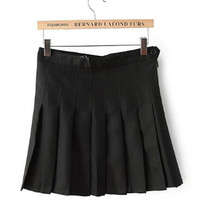 AA High Waist Pleated Skirt Women's American Apparel Solid Color Preppy Slim Mini short Skirts 8 Colors XS - L