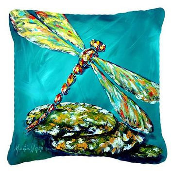 Insect - Dragonfly Matin Canvas Fabric Decorative Pillow MW1144PW1414