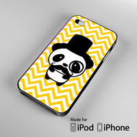 Cute Panda Mustache iPhone 4S 5S 5C 6 6Plus, iPod 4 5, LG G2 G3, Sony Z2 Case