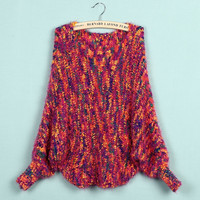 'The Sierra' Long Batwing Sleeve Knitted sweater
