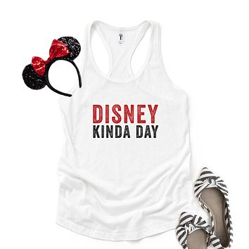 Disney Kinda Day - Disney Christmas | Racerback Tank