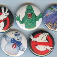 GHOSTBUSTERS buttons satan horror movie cult keymaster ghosts supernatural badges pinback accessories