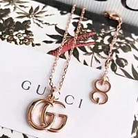 GUCCI New fashion letter pendant necklace women accessory Rose Gold