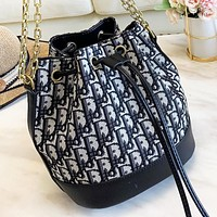 DIOR Fashion New More Letter Shopping Leisure Shoulder Bag Bucket Bag