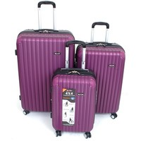 3 Pc Luggage Set 4 wheel Spinner Upright Suitcases Pullman Hard Side Expandable