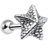 925 Sterling Silver Oceanic Starfish Tragus Cartilage Earring