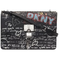 DKNY Elissa Leather Graffiti Chain Strap Shoulder Bag, Created for Macy's & Reviews - Handbags & Accessories - Macy's