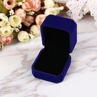 Luxurious Velvet Ring Box in Five Colors - Jewelry Gift Box