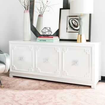 Safavieh Couture Arcelia 3-Door White Lacquer Wooden Sideboard | Overstock.com Shopping - The Best Deals on Buffets