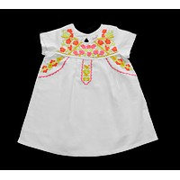 Lucia White Embroidery Fair Trade Dress