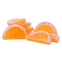 Candy Fruit Jell Slices - Peach: 5LB Box