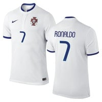 Ronaldo #7 Portugal Nike 2014 World Soccer Replica Road Jersey - White - http://www.shareasale.com/m-pr.cfm?merchantID=7124&userID=1042934&productID=540993486 / Portugal