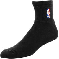 Black NBA Logoman 10-13 Quarter Socks