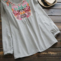Cupshe Love Adorns Itself Embroidered Top