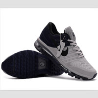 NIKE trend of plastic bottom casual shoes breathable running shoes Gray and black