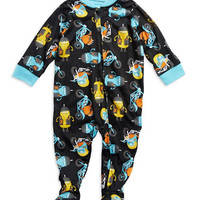 Little Me Monster Footed Pajamas