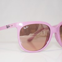RAY-BAN Womens Designer Sunglasses Pink CATS 1000 RB 4126 738/3E 16337