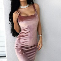 Fashion sexy hot two strape dress Solid color Show thin pink red Off shoulder dress