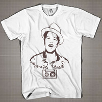 BRUNO MARS Line  Mens and Women T-Shirt Available Color Black And White