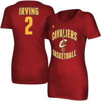 Kyrie Irving Cleveland Cavaliers adidas Women's Name and Number T-Shirt – Garnet