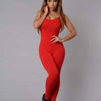 Nova Season Jumpsuit - Red