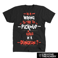 Is It Wrong to Try to Pick Up Girls in a Dungeon?   a fun shirt for a great show