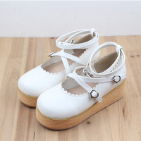 Cute Sweet Sapato Lolita Flats Women Shoes Id081908