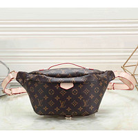 Louis Vuitton LV Fashion Leather Waist Bag Satchel Single Shoulder Bag Crossbody